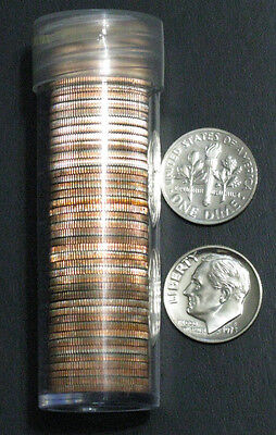 1973 S 10c Proof Roosevelt Dime Roll 50 Coins