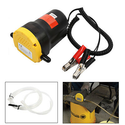 12V Electric Transfer Pump Extractor Oil Fluid Diesel Fr Car Motorbike Free Ship