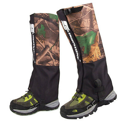 Waterproof 1 Pair Double Layer Outdoor Hiking Snow Climbing Snow Legging Gaiters