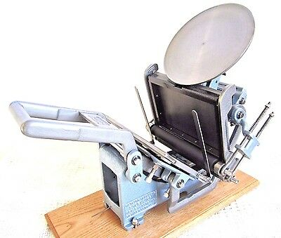 Kelsey 8X5 Letterpress Printing Press Embossing Platen Press Excellent Complete