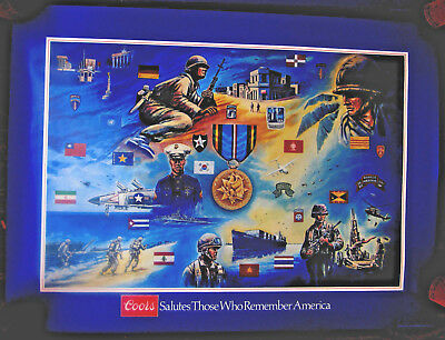1984 Coors Beer military poster Armed Forces Expeditionary Service GeorgeSkypeck