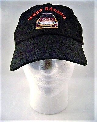 Black Hat Baseball Cap Jeremiah Weed Racing One Sz fits Most Adjustable NOS