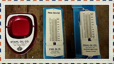 Standard Oil ashtray and thermometers lot sign Petroliana