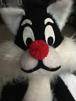 "Vintage Looney Tunes 16"" Sylvester Mighty Star 70's Plush Doll"