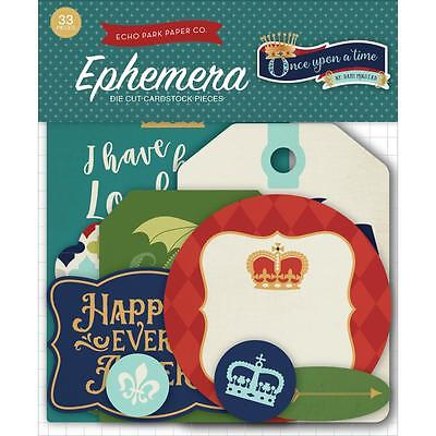 Echo Park ~ ONCE UPON A TIME PRINCE ~ Die Cuts Ephemera