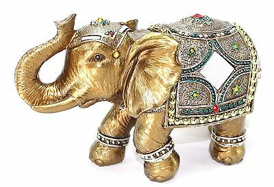 "Feng Shui 9"" Elegant Elephant Trunk Statue Lucky Figurine Gift & Home Decor"