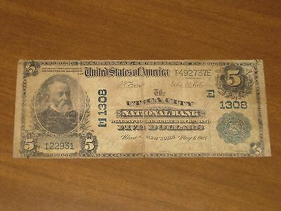 1902 $5 National Bank Note - Utica City NB Utica New York Charter # 1308