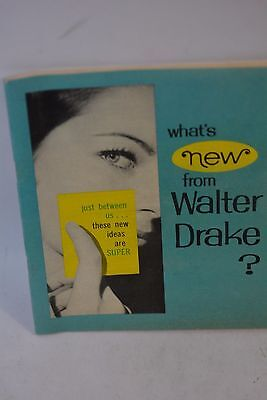 Vintage 1965 Whats new from Walter Drake catalog 63 pages.