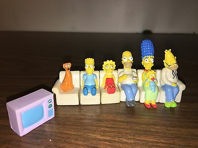 The Simpsons 7 pc. Mini Couch Set -VERY RARE SET-