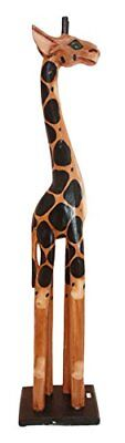 "Balikraft Hand Made Wood Artisans ""Jerapah Antik"" Large Upright Safari Giraffe A"