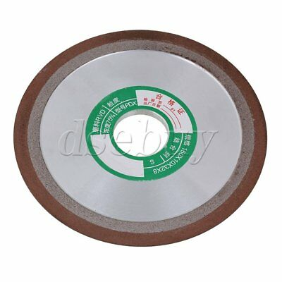 180 Grit Tapered Side 150mm OD Plain Resin Diamond Grinding Wheel Cutter Grinder
