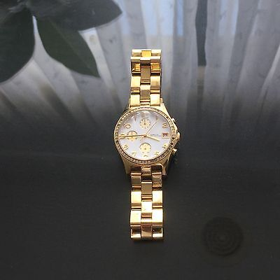 Marc Jacobs Glitz Chronograph *** RRP $399*** Gold Watch Women's Crystals