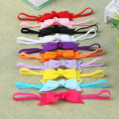 10pcs Newborn Baby Girl Infant Toddler Headband Bow Ribbon HairBand Accessory SM