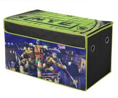 TMNT Teenage Mutant Ninja Turtles TOY CHEST Trunk Box Bed Room Bedding Organizer