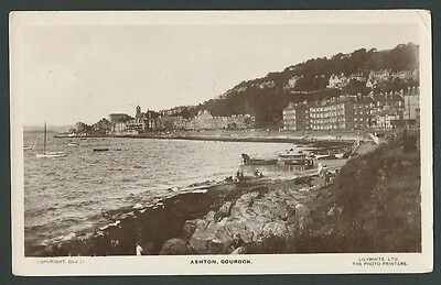 Gourock Inverclyde Ashton 1927 Lilywhite Real Photo Postcard