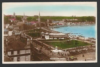 Rothesay Argyll & Bute West c1930s Valentine Colour Real Photo Postcard