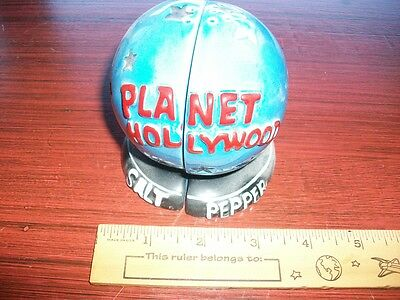 Unique Planet Hollywood / Salt and Pepper Shakers / Two Halves of World