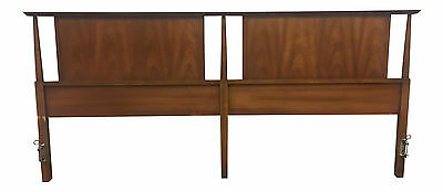 Mid Century Modern King Size Walnut Headboard Made by Dixie
