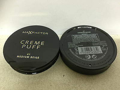 Max Factor Creme Puff Pressed Powder, shade 41 MEDIUM BEIGE