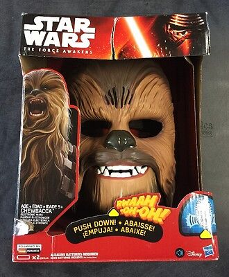 Star Wars The Force Awakens Chewbacca Electronic Mask NEW SEALED HASBRO
