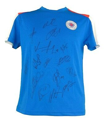 Glasgow Rangers Signed Football Training Shirt 2017+Photo Proof*see Players Sign