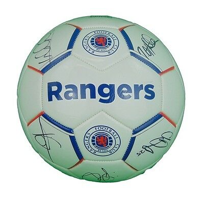 Glasgow Rangers Signed Football 2017+Photo Proof*see The Players Sign This Ball*