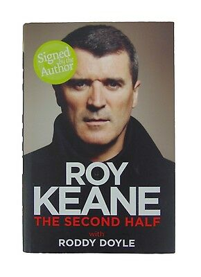 Roy Keane Signed 'the Second Half' Autobiography Football Book + *coa*