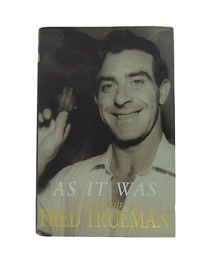 Fred Trueman Signed 'as It Was' Autobiography Cricket Book + *coa*