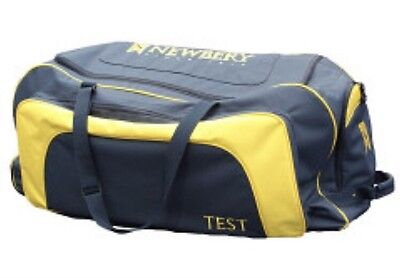 Brand New Newbery Test Wheelie Navy / Yellow Cricket Bag