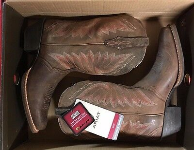 263a35a945f NWT ARIAT WOMEN'S Autry Square Toe Cowboy Boot Size 5.5 - Woodsmoke