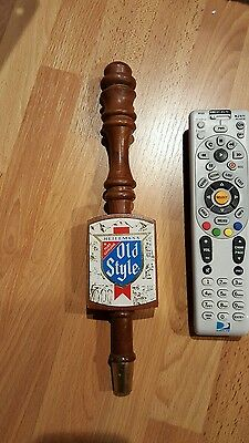 Vintage Heileman's Old Style Bar Beer Tap Tappers Wood Wooden