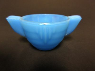 Akro Agate Small Stacked Disc Child's Medium Blue Sugar / 2 Available