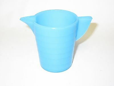 Akro Agate Small Stacked Disc Child's Bright Turquoise Water Pitcher 2 Available