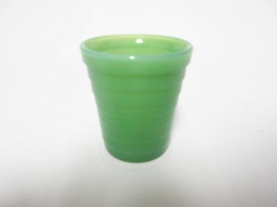 Akro Agate Small Stacked Disc Child's Green Water Tumbler / 11 Available / HTF