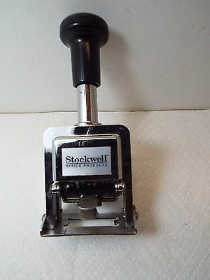Hand numbering machine by Stockwell