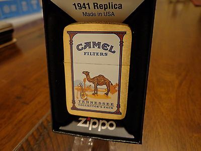 Tennessee Camel State Collectors Pack Brush Brass Zippo Lighter 2010