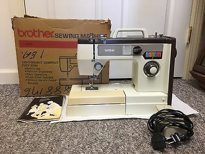Vintage Brother Electric Sewing Machine Vx 710 In Box, 044-I