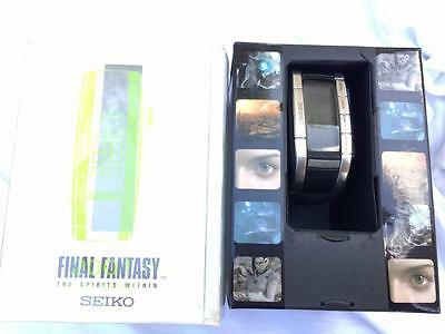 Final Fantasy Seiko The Spirits Within 2001 Limited Edition Watch In Box