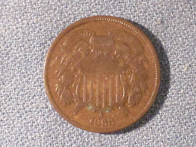 *** 1868  Two Cent Piece / Nice starter coin.  VG Details