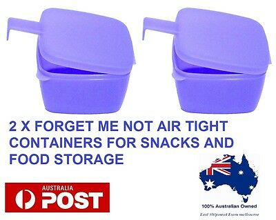 2 X Tupperware Forget me not Air tight container snacks and cheese storage NEW