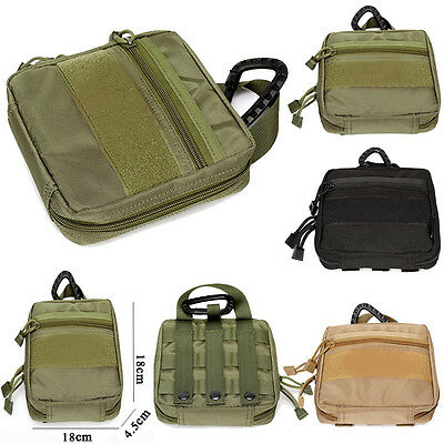 1000D Molle Tactical Military EDC Utility Tool Bag Medical First Aid Pouch Case@