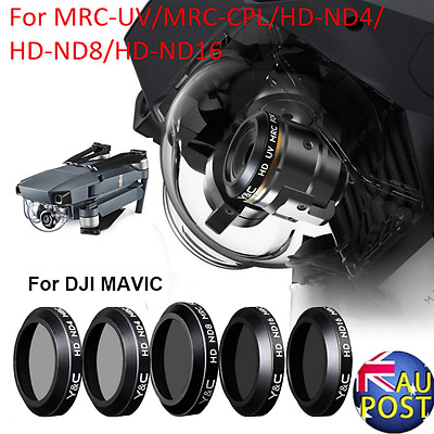 For DJI MAVIC Pro Drone MRC-UV CPL ND4 ND8 ND16 Camera Lens HD Filter&Wrench AU
