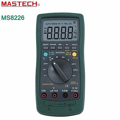 Mastech MS8226 DMM 3 3/4 Digital Multimeter Auto Range Temperature Multimeter