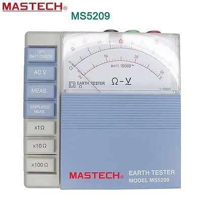 MASTECH MS5209 Low Power Analog Earth ResistanceTest Meter Megger Megometro