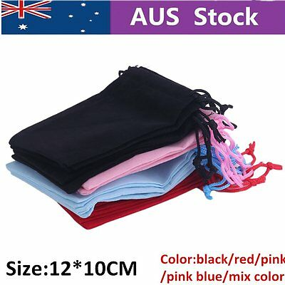 Colour 20pcs Velvet Gift Jewelry Drawstring Pouch Bag 12*10CM | AUSSIE Seller AU
