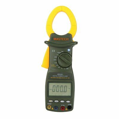 MASTECH MS2201 Auto Range Digital Power Clamp Meter Power Factor Meter Voltmeter