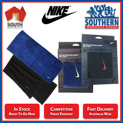 Nike Sports Solid Core Towel Medium 35 x 80 cm Soft Cotton Gym Fitness Workout