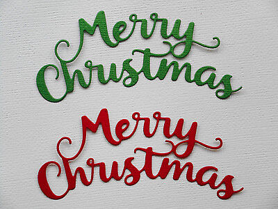 'Merry Christmas'  Paper Die Cuts x4 Sets Scrapbooking Card Topper Embellishment