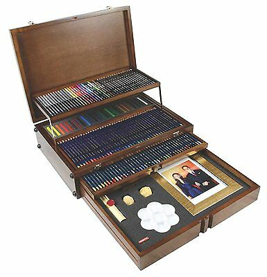 Derwent Majestic Wooden Box, Pencils and Accessories, Limited Edition No.8