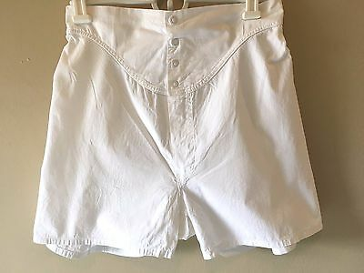 Vintage 1960s? Mac Phergus Sanforized White Full Cut Boxers Underwear size 30 AC